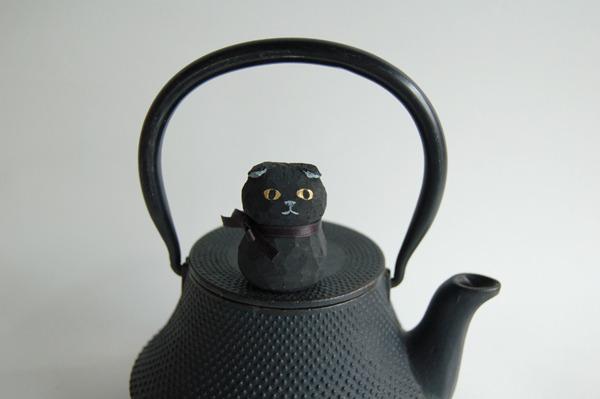 木彫り人形 スコティッシュ 黒  [MWF-025]