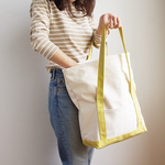 BEND TOTE BAG (キナリ×ライムイエロー)