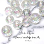 shine bubble beads~20pcs