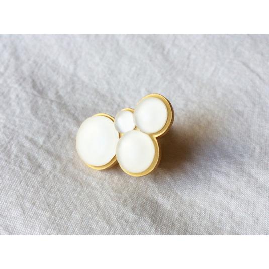 shrink plastic pearl earring