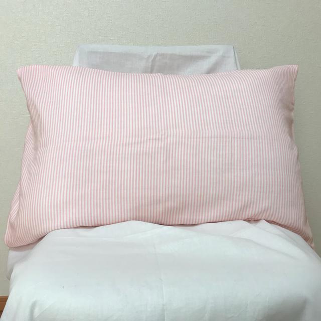 ふわふわの手触り ダブルガーゼ枕カバー ピンクストライプ