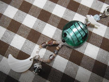 三日月とランプのストラップ【送料無料】