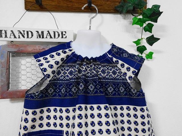 539ed6245a5f3 ☆洋服のような半袖スモック☆120-130 フローレンス ブルー ...