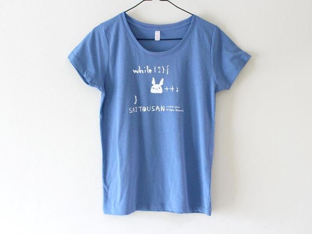 サイトウサン++Tシャツ 女性用S アシッドブルー