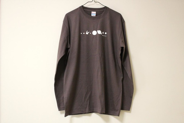 コスモサイトウサン長袖Tシャツ 男性用L チャコール