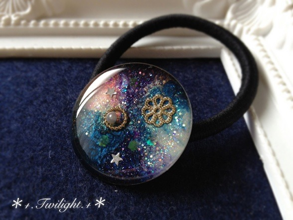 【sold out】「*+.Galaxy.+*」ヘアゴム