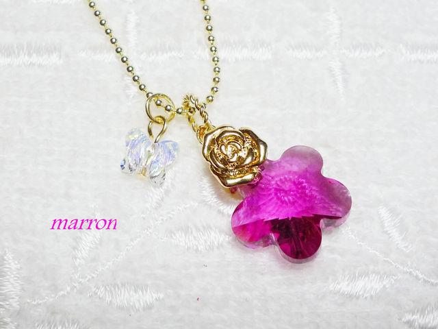 ?スワロflower&butterflyネックレスf?