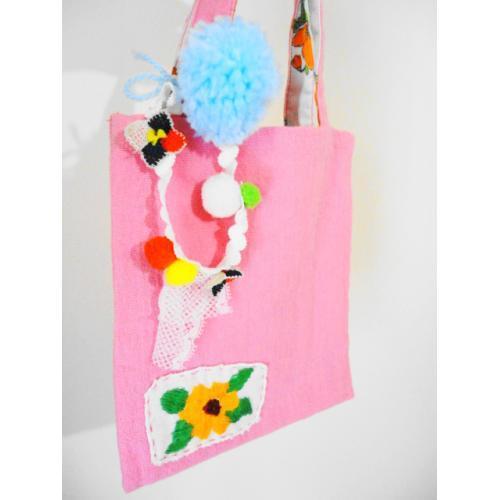 ピンクのお花トート B