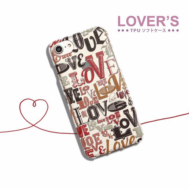 ef40342d61 iPhoneXSケース iPhoneXケース iPhone8ケース iPhone7ケース iPhone6sケース iPhone6ケース【LOVER'S】  かわいい ハート TPU ソフトケース