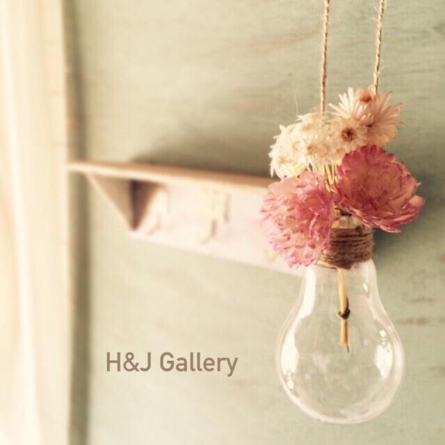 ☆電球の吊り下げ花瓶フラワー付き