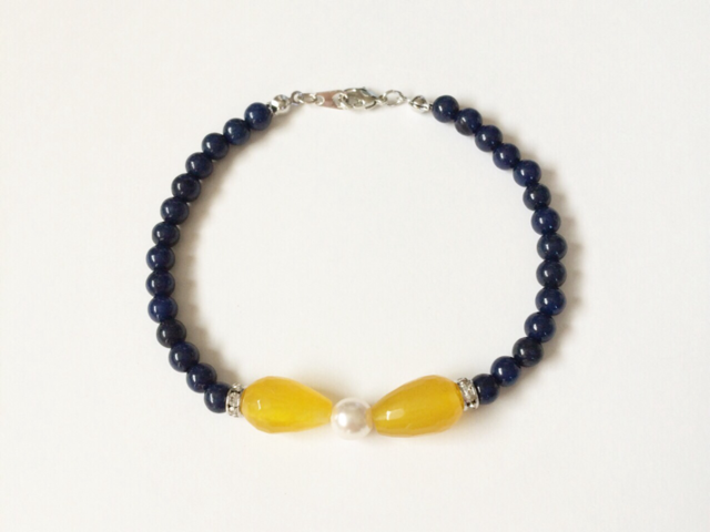 bow bracelet (lemon)