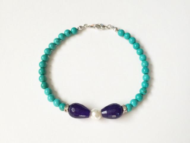 bow bracelet (sapphire)