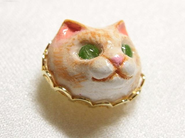 ネコさんタックピン(キジ)