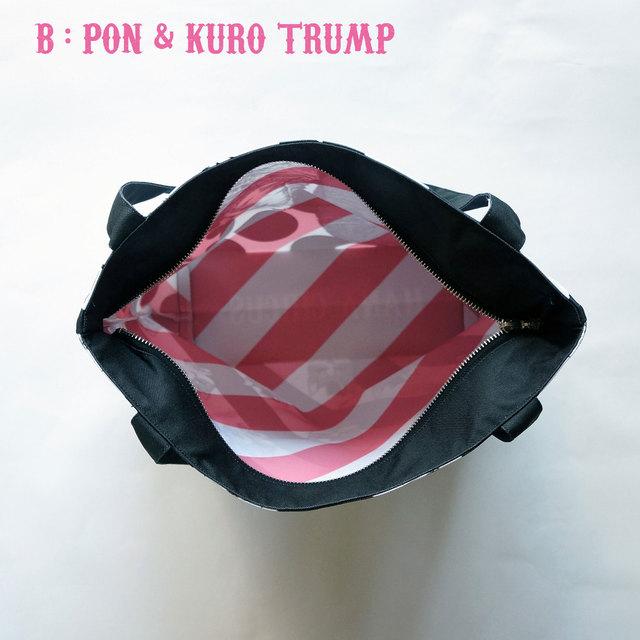 5d7498b8ae4f 【送料無料】 HANA circus original ファスナー付き トートバッグ 黒猫とキジトラの