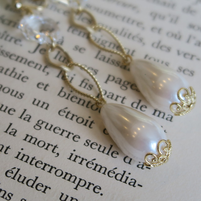 Vintage chandelier&pearl earrings