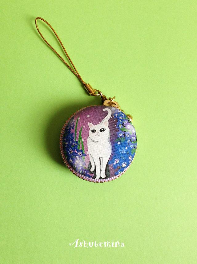 【再販】マカロンケース(猫の旅:4cm)