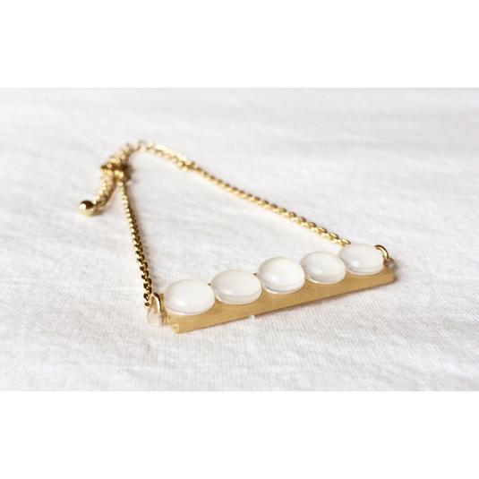 shrink plastic pearl bracelet