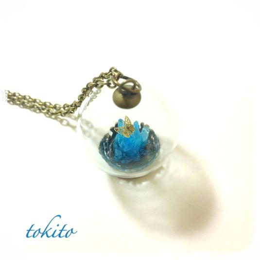 結晶のネックレス*青