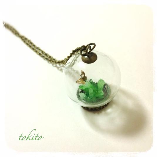 結晶のネックレス*緑