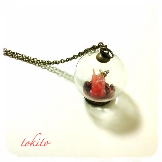 結晶のネックレス*赤