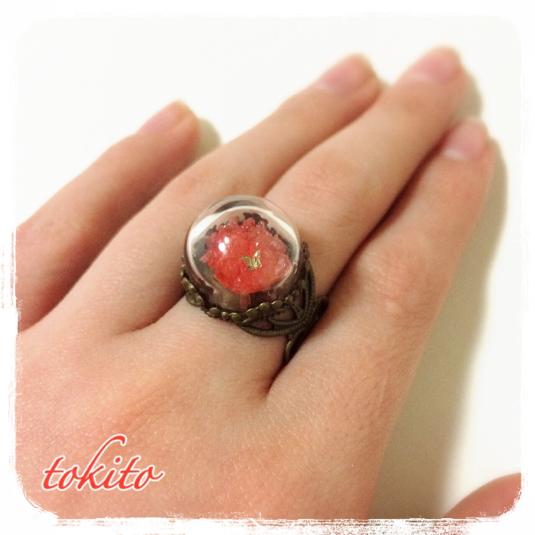 結晶の指輪*赤