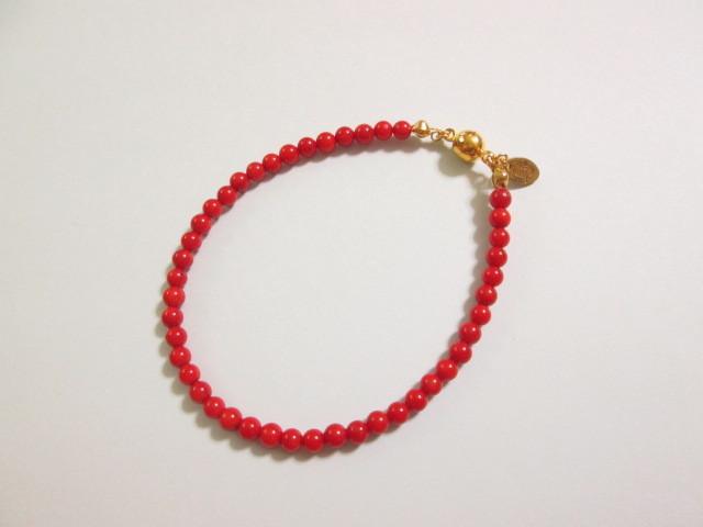 20%OFF《送料無料》 真っ赤な珊瑚のブレスレット