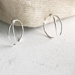 silver filled  drop hoop small フープピアス