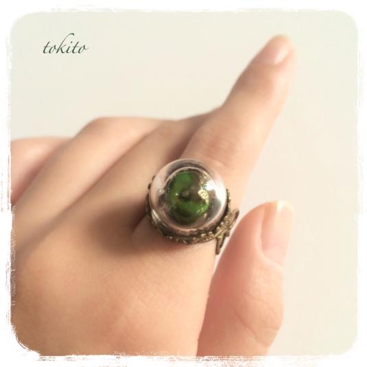 毒りんごの指輪*緑