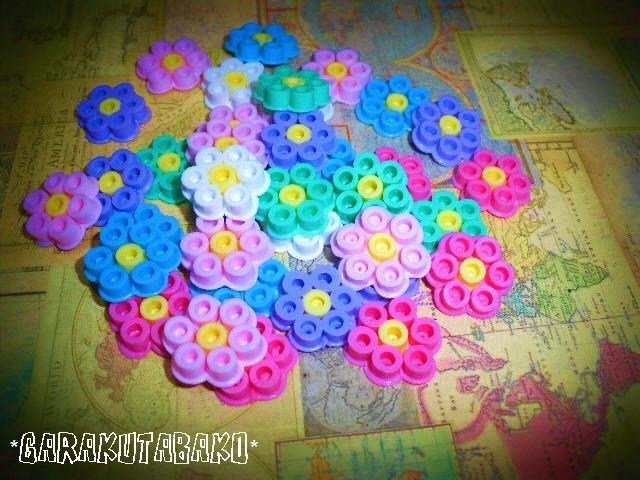 お花がいっぱいのコースター(2枚セット)