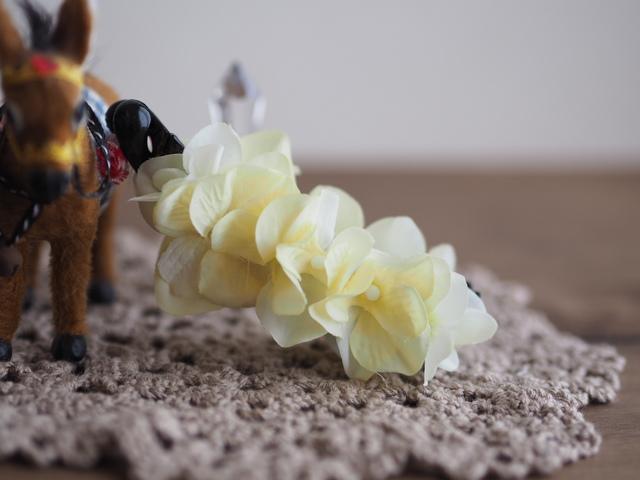 レモンイエローお花のバナナクリップ