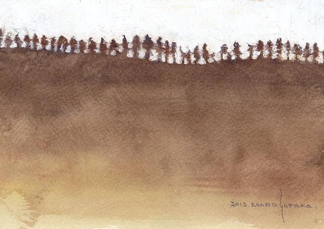 山並み (額縁付き)