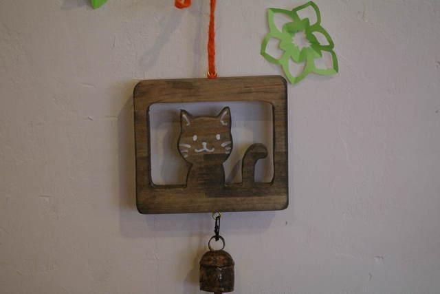 猫型 ドアベル 『窓辺の猫』