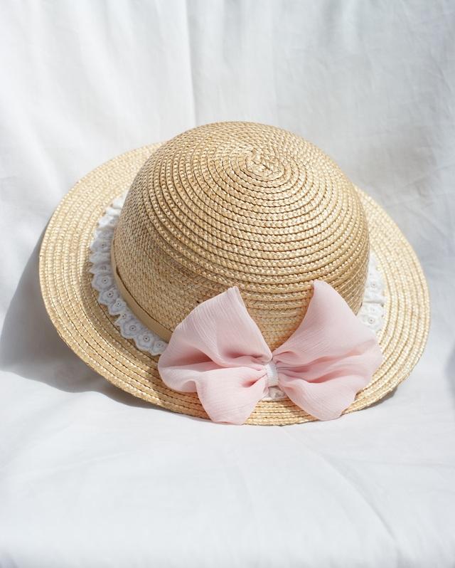 麦わら帽子☆リボンアレンジ キッズ52