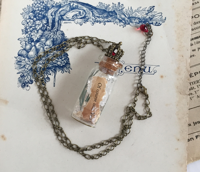 Movie Quote Bottle Pendant - The Dark Crystal (size:S)