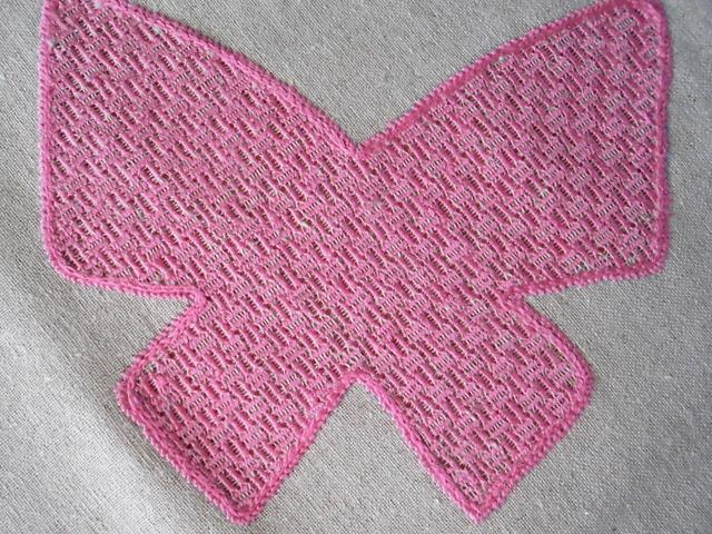 リネン クロス(オールハンドメイド) お部屋にピンクの蝶々いかがですか?