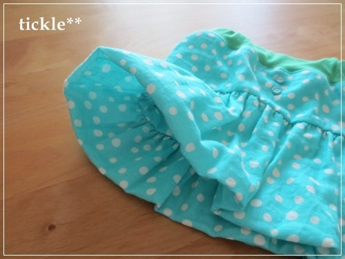 ラムネランダムドット Wガーゼのバルーンスカート 90サイズ