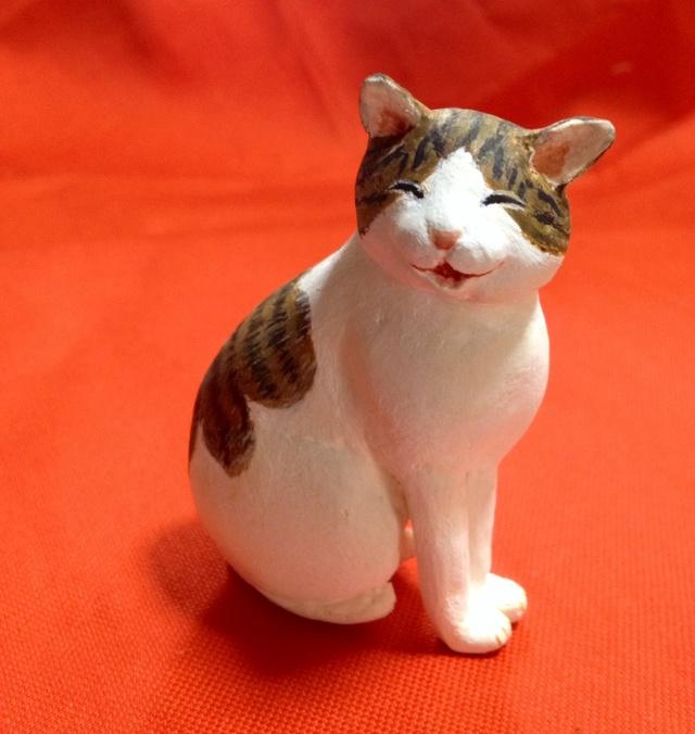 笑う猫(粘土)