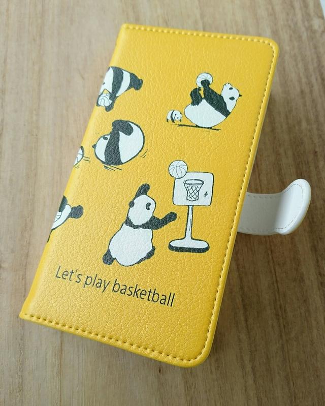 bf2dcb1ec2 パンダ の バスケットボール/ 手帳型 スマホケース/ iPhone ケース/携帯カバー/携帯ケース/Xperia/pixel