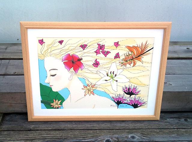 A3サイズ・風薫る 花咲かす女神フロラ 南の島バージョン