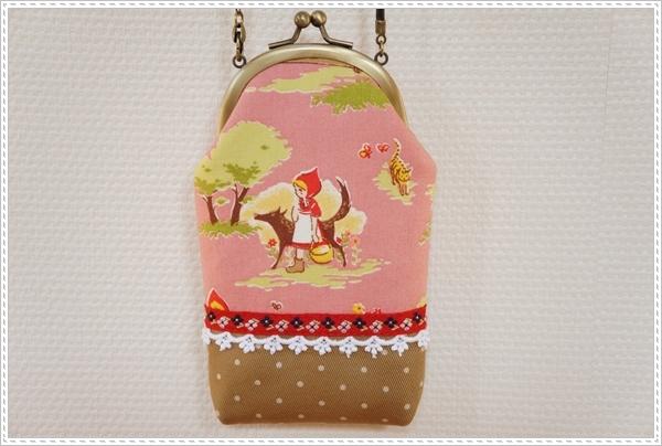 ☆赤ずきんちゃんの携帯ケース☆ピンク