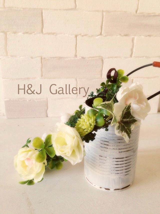 ○クローバーとホワイトフラワーの花冠