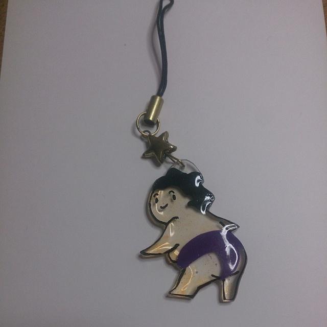 【送料込】お相撲さんのプリケツストラップ(紫)