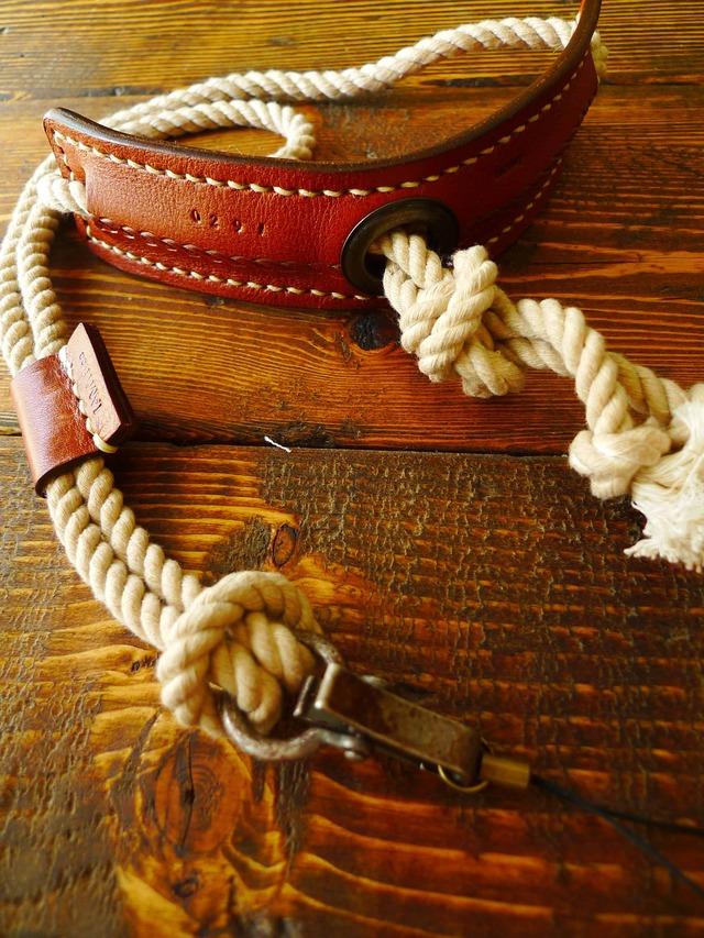 Rope tie カメラストラップ(べ−ジュ)[受注生産]