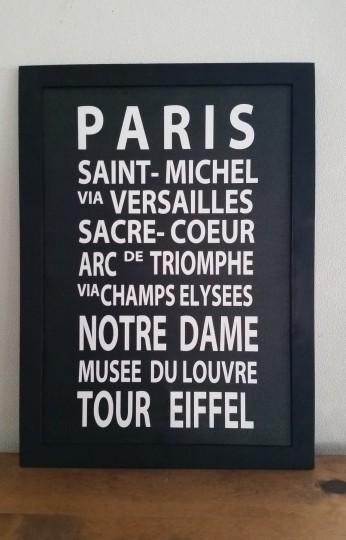 A3*バスロールサイン風フレーム*ノーマル*PARIS
