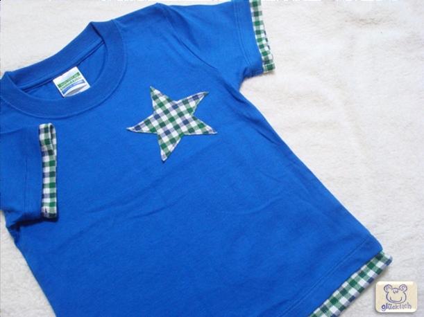 重ね着風Tシャツ/100/ロイヤルブルー