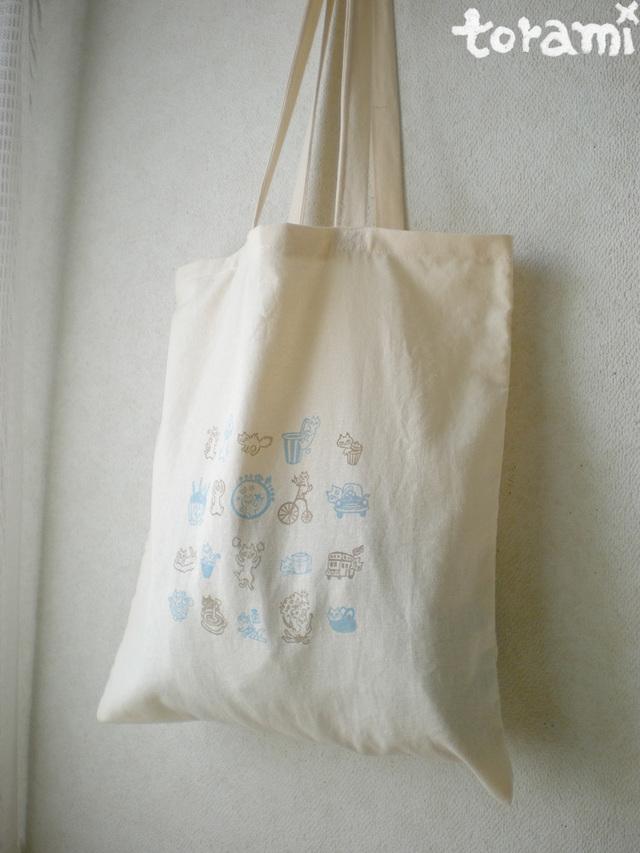 猫柄★薄手のトートバッグ
