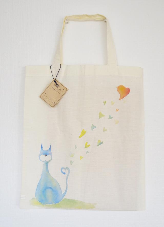 エコバッグ(恋する青い猫)