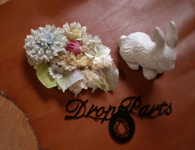 花のヘアクリップ(サックス)