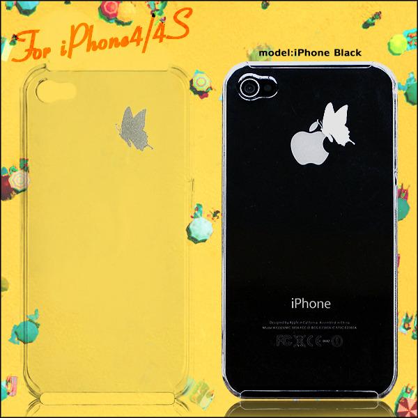 りんごでひと休み蝶々デザイン iphone ケース