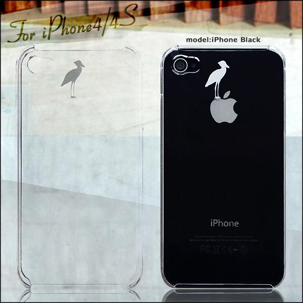 孤高の白サギデザインケース iPhoneケース